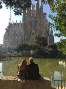 Foto scattata davanti alla Sagrada Familia