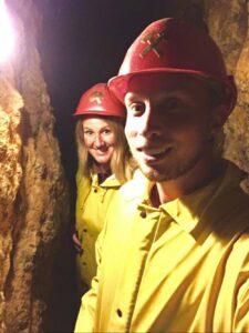 Interno delle Grotte vicino Friburgo in Germania