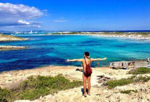 Vista sul golfo a Formentera Spagna