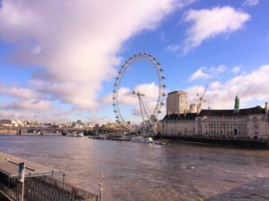 Vista su London Eye a Londra