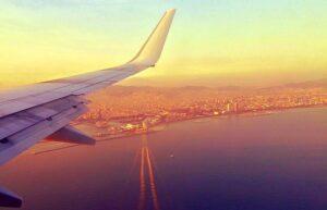 Prenotare voli Vista dall'aereo su Barcellona