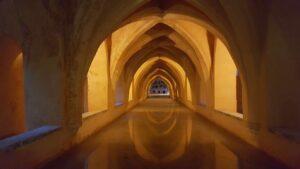 Bagni Real Alcazar di Siviglia Spagna