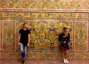 Interno Alcazar di Siviglia in Spagna