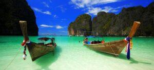 Barche a Phi Phi Island Thailandia