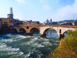 Ponte Pietra di Verona Italia