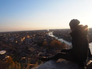 Vista di Verona dall'alto Italia Castel San Pietro