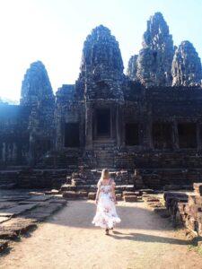 Tempio nelle rovine di Angkor Wat in Cambogia