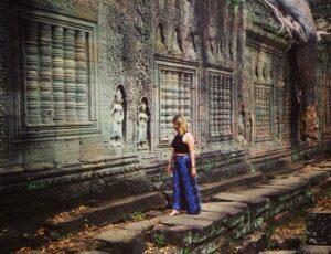 All'interno del sito archeologico di Angkor Wat in Cambogia