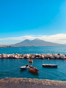 Vista del Vesuvio a Napoli