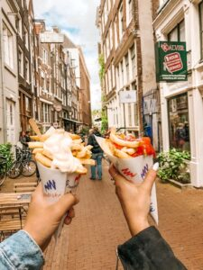 Patatine fritte Street Food di Amsterdam