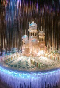 Statua ghiaccio ballo del ceppo tour Londra