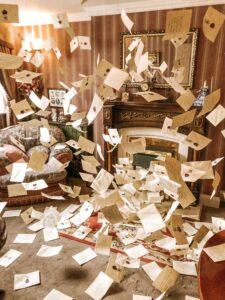 Lettere volanti Hogwarts nel Tour Harry Potter a Londra