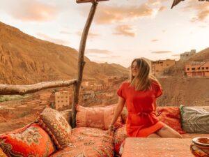 Punto panoramico gole del Dades nel Sahara