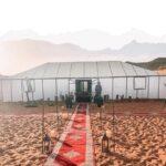 Campo tendato nel deserto del Sahara marocco
