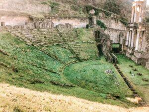 Teatro romano a Volterra in Toscana