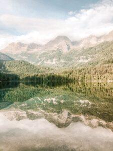 Riflesso Dolomiti sul Lago di Tovel
