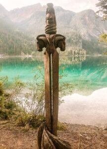 Spada woodart Lago di Tovel