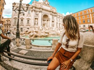 Foto della Fontana di Trevi a Roma