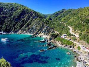 Panorama isola di Skopelos in Grecia